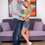 Slutty Tattooed Redhead Scarlett Pain Swallows Huge Load of Jizz 06