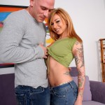 Slutty Tattooed Redhead Scarlett Pain Swallows Huge Load of Jizz 07