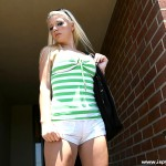 Beautiful Blonde Coed Bombshell Ami Jordan Gives Cameltoe Ride 01