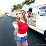 Sweet Looking Schoolgirl Alyssa Hall Screams for Ice Cream 05