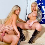 Hot Blonde Girls Cherry Jules and Cindy Dollar Track Some Cock 14