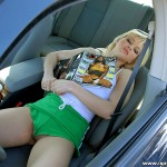 Horny Russian Blonde Katrina Kat Shows Off Her Puffy Cameltoe 01