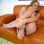 Hot Blonde Coed Bella Cole Gives a Sexy Footjob & Fucking 02