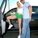 Horny Russian Blonde Katrina Kat Shows Off Her Puffy Cameltoe 03