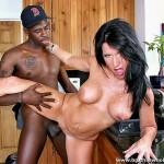 Horny Big Tit Brunette MILF Kendra Secrets Fucks Black Cock 13